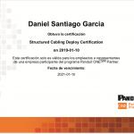Certificación Panduit Daniel